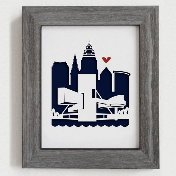 "Cleveland - 8x10"" cut-out"