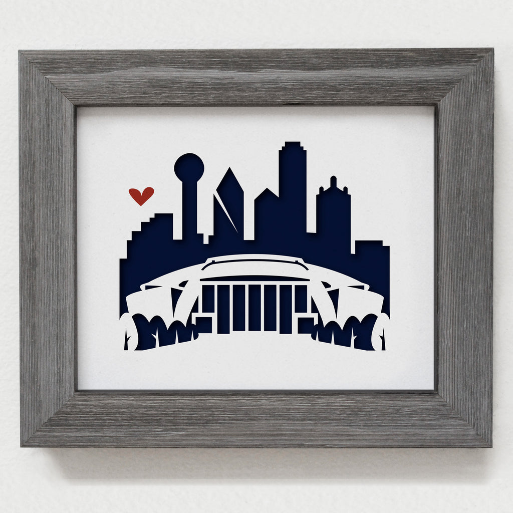 "Dallas (Cowboys AT&T Stadium) - 8x10"" cut-out"