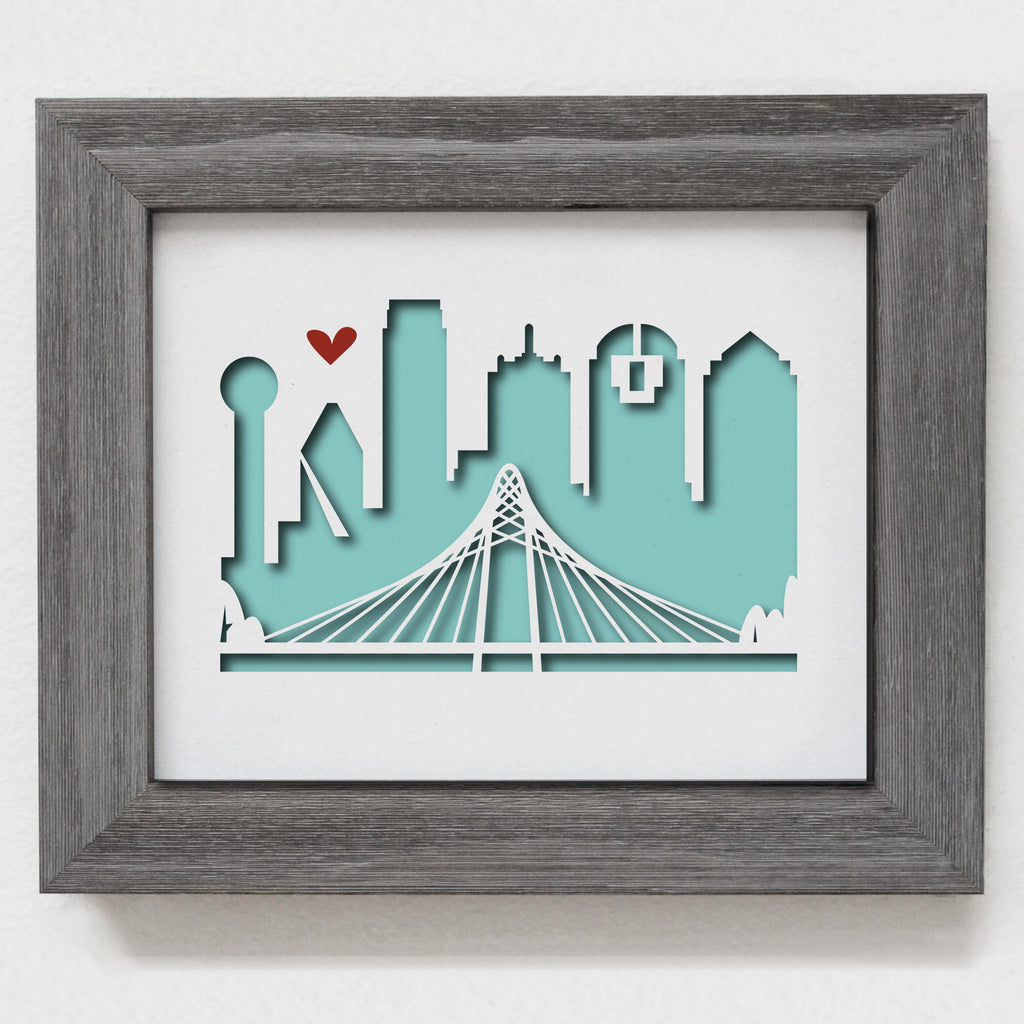"Dallas #2 - 8x10"" cut-out"