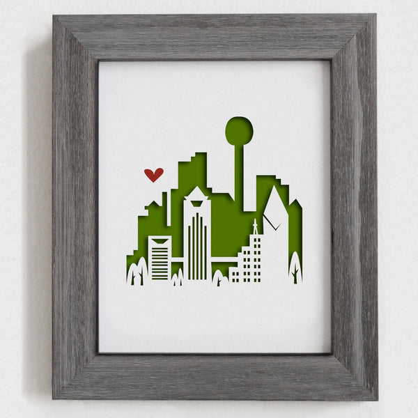 "Dallas - 8x10"" cut-out"