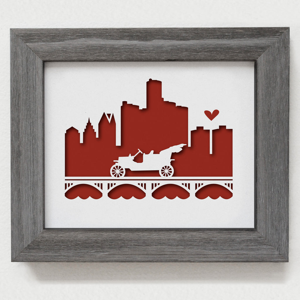 "Detroit - 8x10"" cut-out"