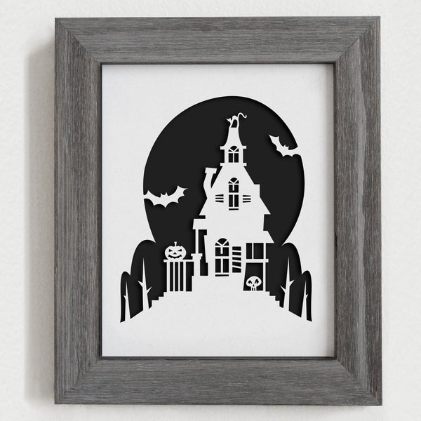 Halloween Papercut Artwork- 8x10""