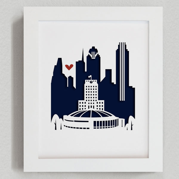 "Houston - 8x10"" cut-out"