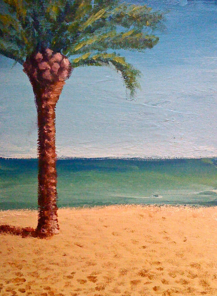 Moncofar Beach - SOLD painting