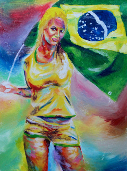 Brazil Fan - SOLD painting