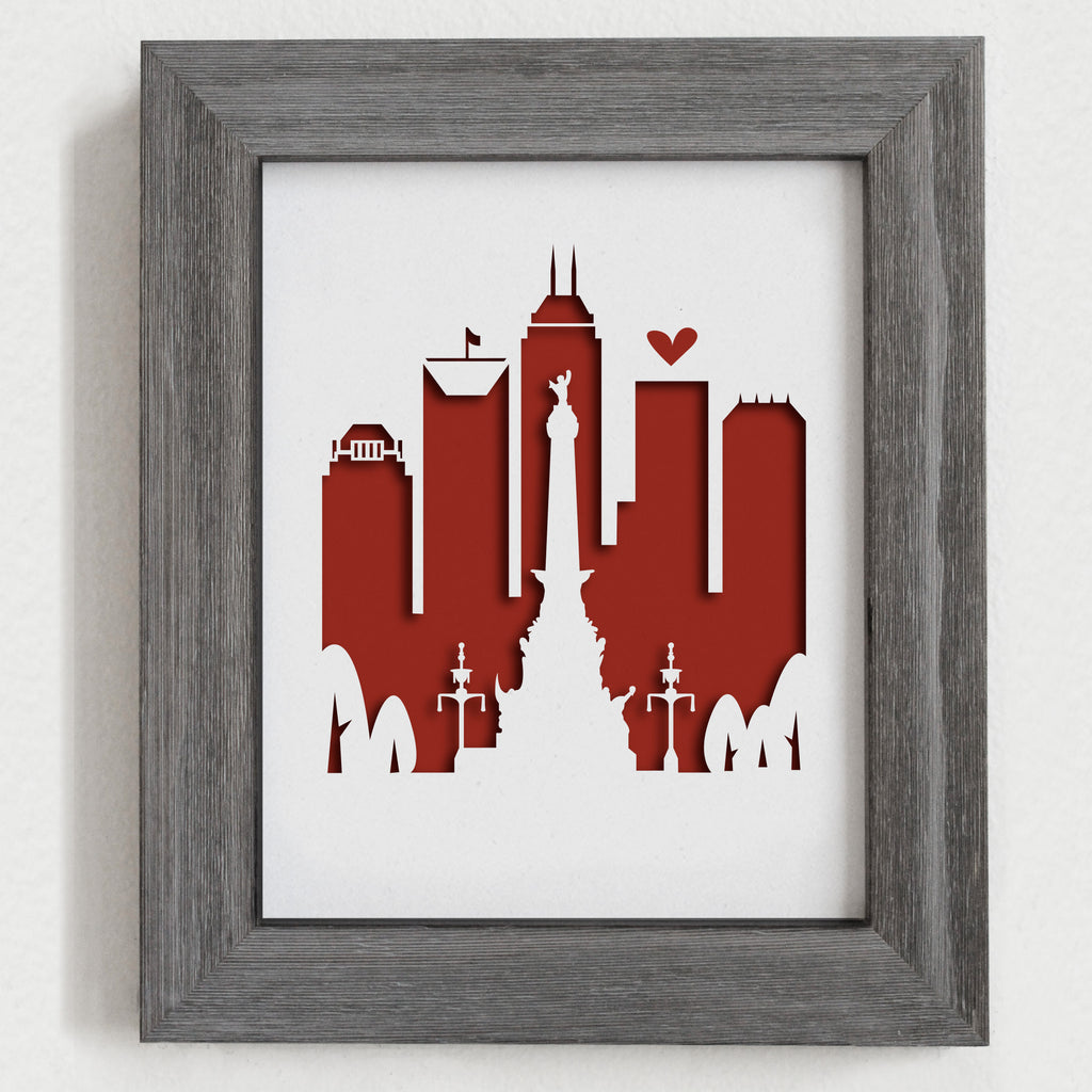 "Indianapolis - 8x10"" cut-out"