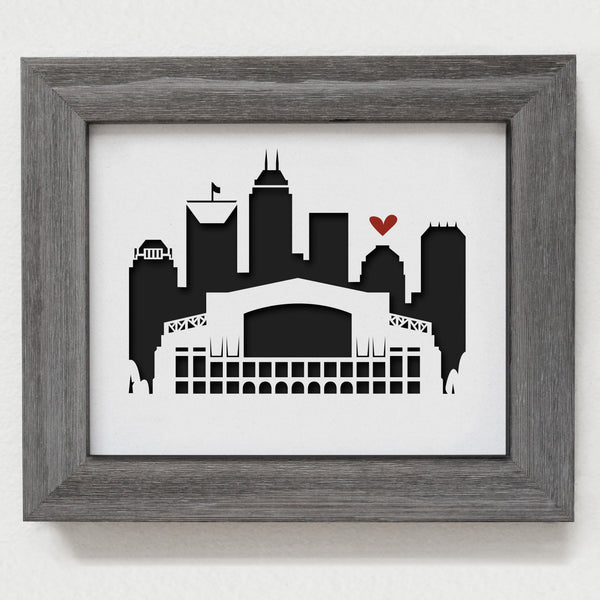 "Indianapolis (Lucas Oil Stadium) - 8x10"" cut-out"