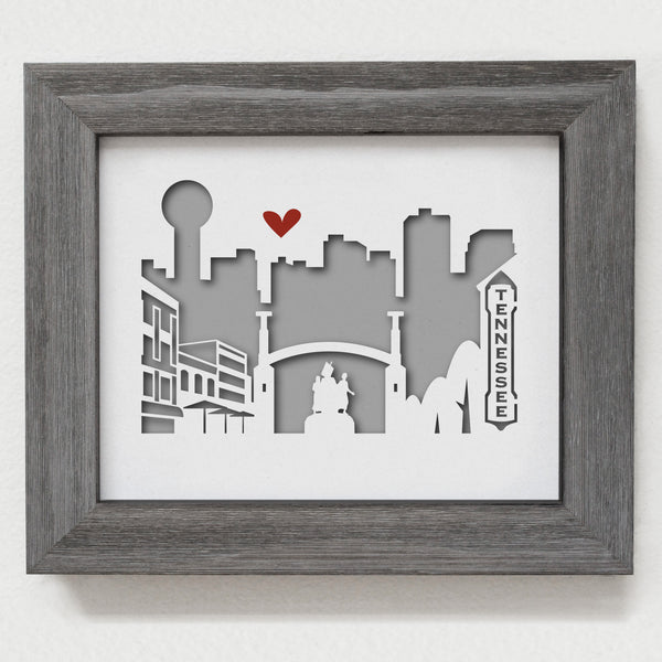 "Knoxville - 8x10"" cut-out"