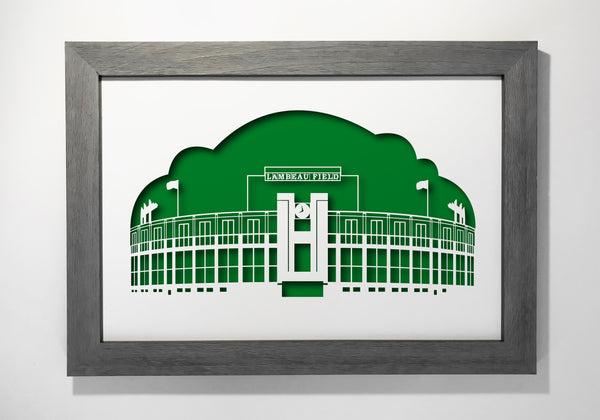 "Lambeau Field 12x18"" cutout artwork"