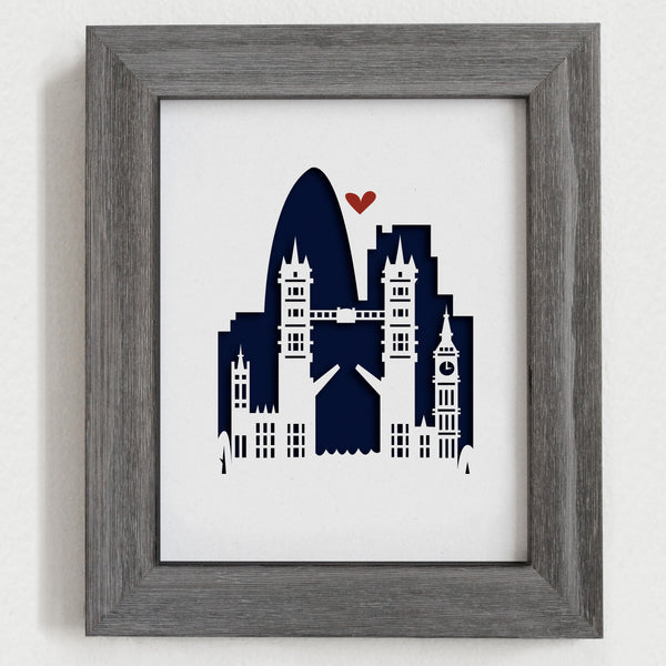"London, England - 8x10"" cut-out"