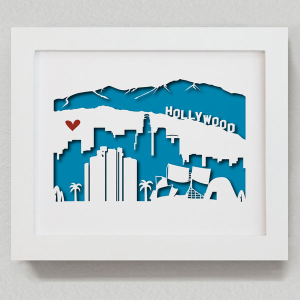 "Los Angeles - 8x10"" cut-out"