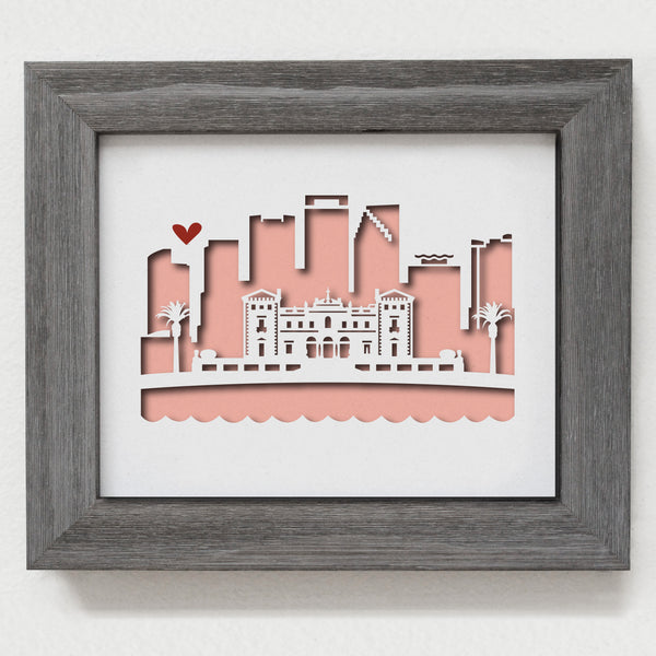 "Miami (Villa Vizcaya) - 8x10"" cut-out"