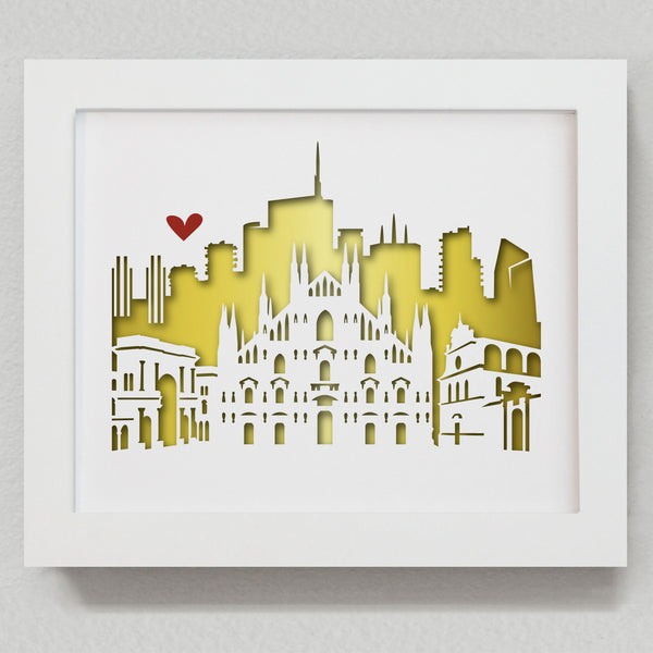 "Milan, Italy - 8x10"" cut-out"