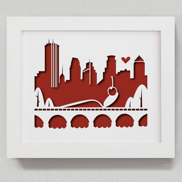 "Minneapolis - 8x10"" cut-out"
