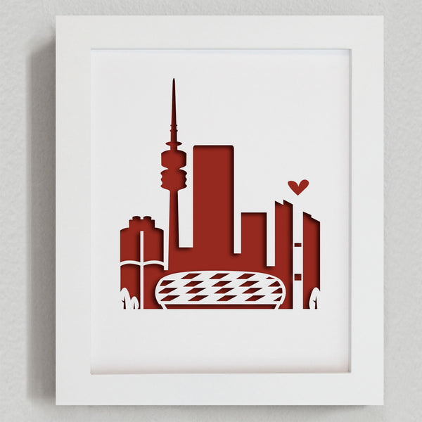 "Munich (Bayern - Allianz Arena) - 8x10"" cut-out"