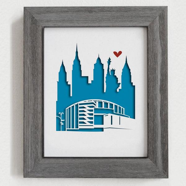 "New York City (Madison Square Garden) - 8x10"" cut-out"
