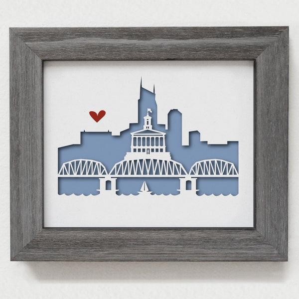 "Nashville - 8x10"" cut-out"