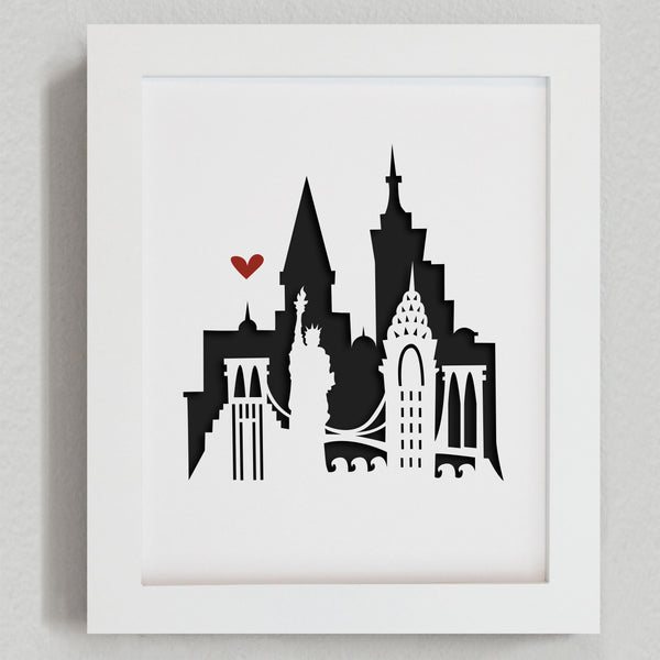 "New York City - 8x10"" cut-out"