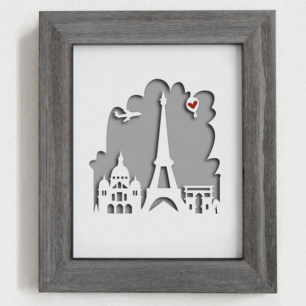 "Paris - 8x10"" cut-out"