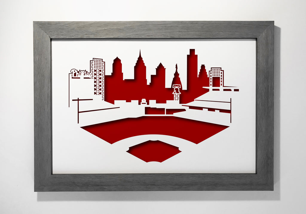 "Citizens Bank Park 12x18"" cutout artwork"