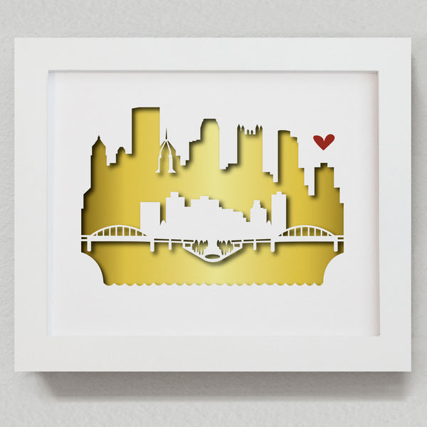 "Pittsburgh - 8x10"" cut-out"