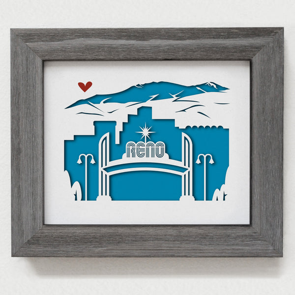 "Reno, Nevada 8x10"" cut-out"