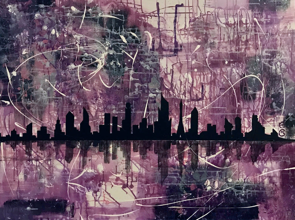 City by the Bay - 3'x4' painting