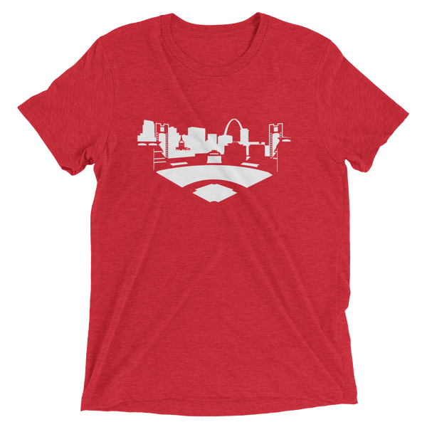St. Louis baseball - men's premium triblend T-shirt