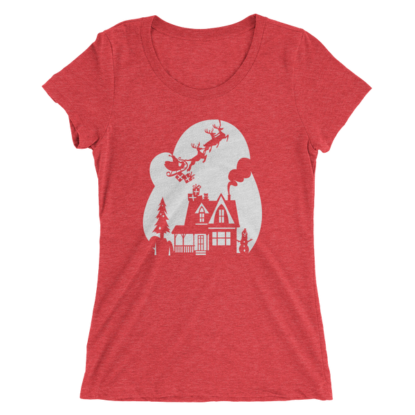 Christmas 1 - women's premium triblend T-shirt