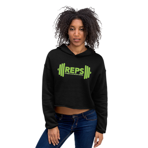 REPS Fitness Women's Crop Hoodie • by TULIP BRAND -  - TULIP BRAND