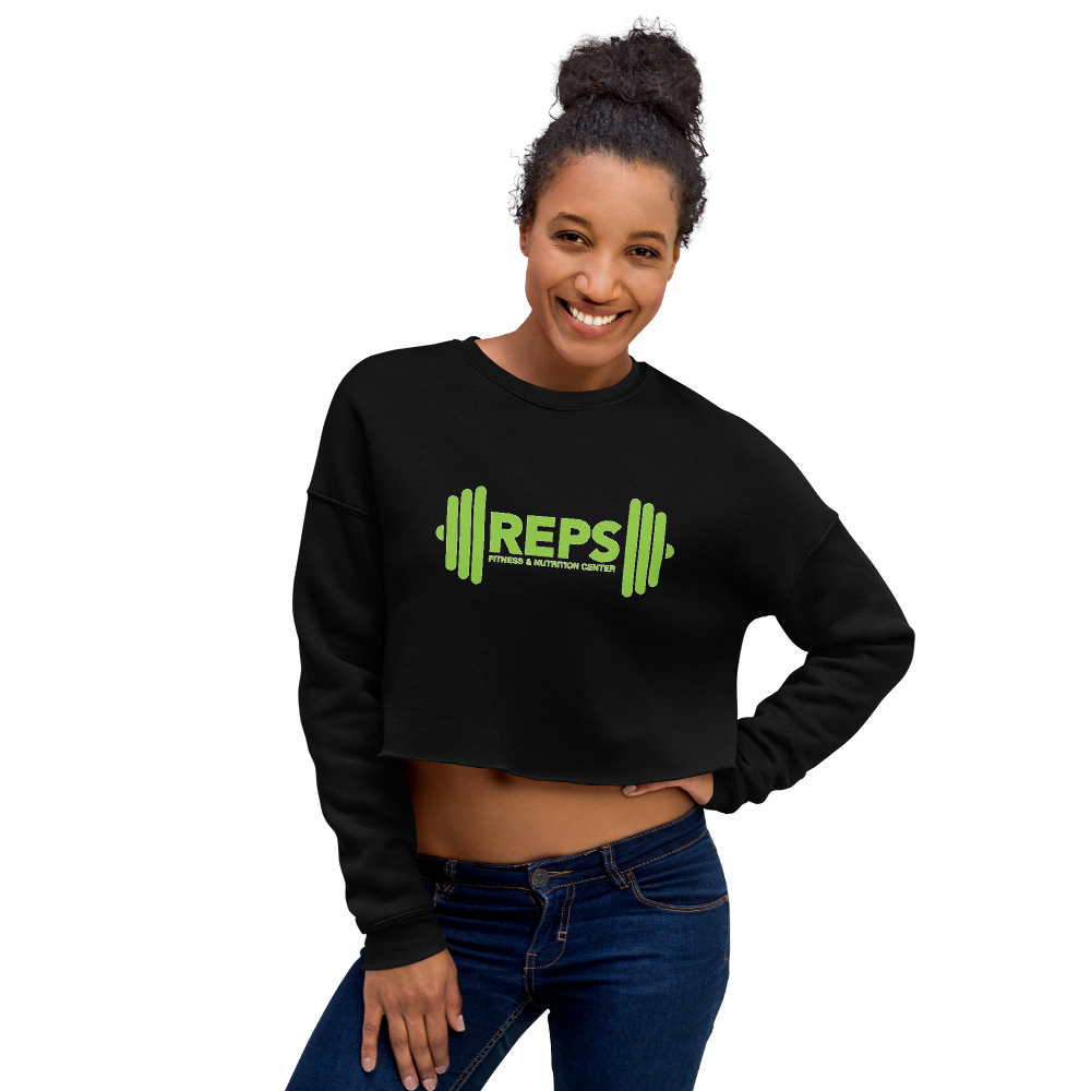 REPS Fitness Women's Fleece Crop Sweatshirt • by TULIP BRAND -  - TULIP BRAND