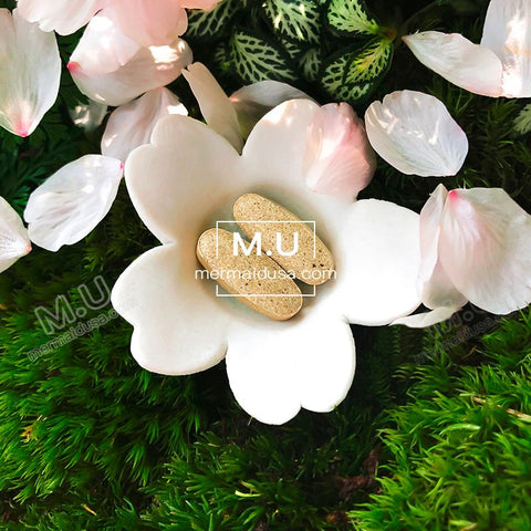 M.U Mermaid USA Whitening pills Brightening Radiant Clear Skin Fight Acnes and Acne Scars  Triple Than glutathione