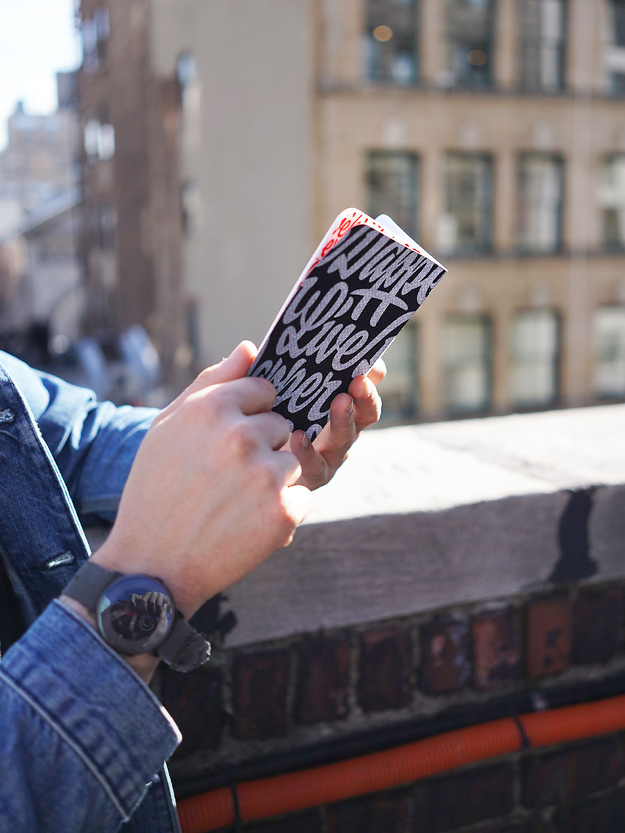 Using a Dapper Notes notebook in NYC