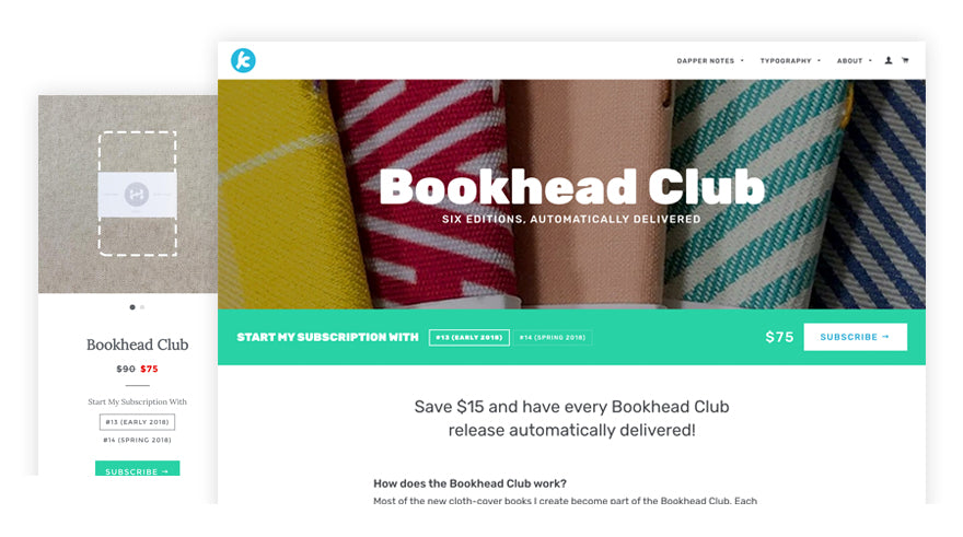 new bookhead club page design