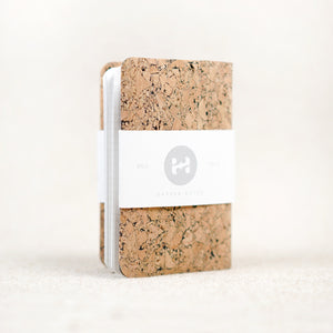 cork pocket notebook wallet cover