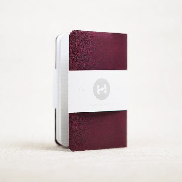 maroon pocket notebook holder