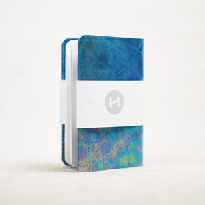 blue oil slick pocket notebook cover