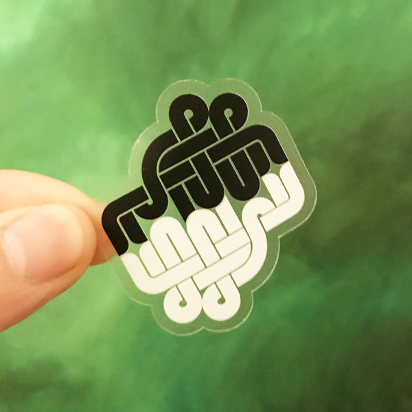 Hallelujah Transparent Sticker