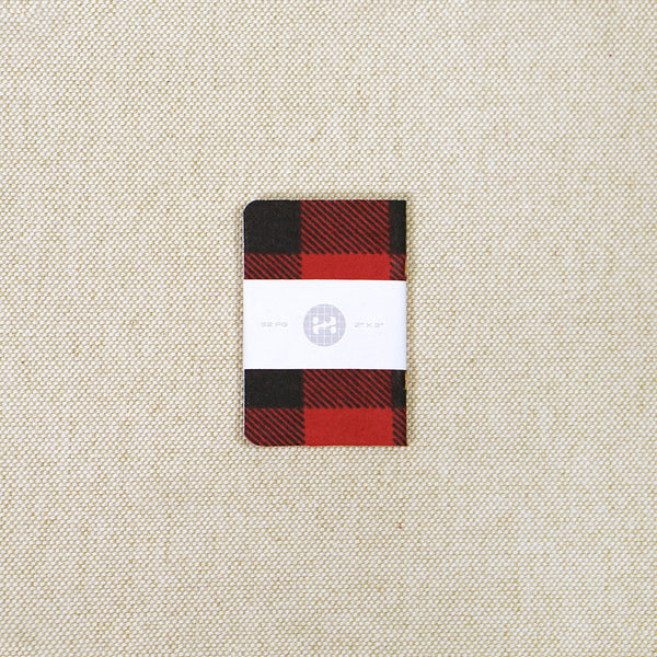miniature plaid notebook