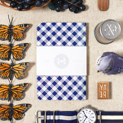 Blue Gingham Pocket Notebook