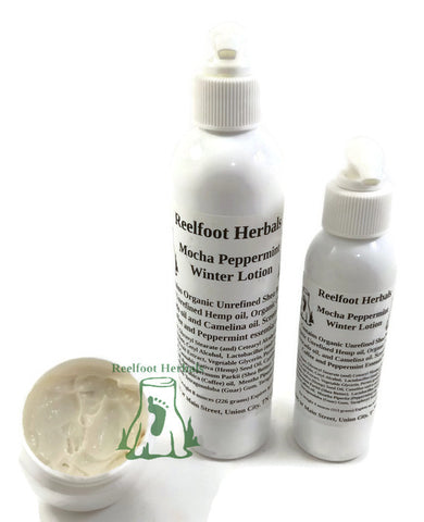 Mocha Peppermint Winter Lotion - Reelfoot Herbals
