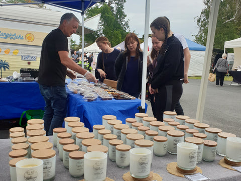 Red Hill Candle Co at Mornington Market