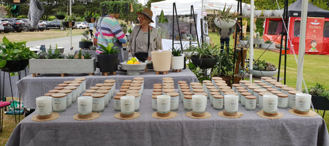 Red Hill Candle Co at the Market