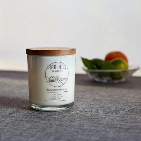 Large White Soy Candle