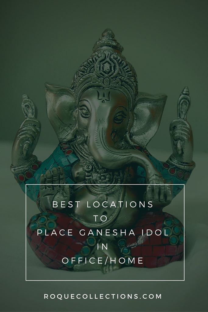 Best location to place Lord Ganesha idol in home or office