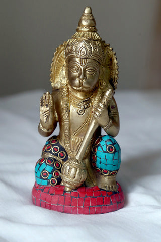 Hanuman with mace in hand