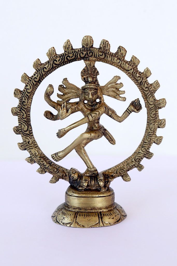 Nataraj in Brass with round stand