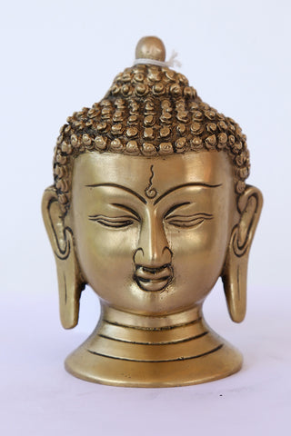 Buddha Head in Gold finish