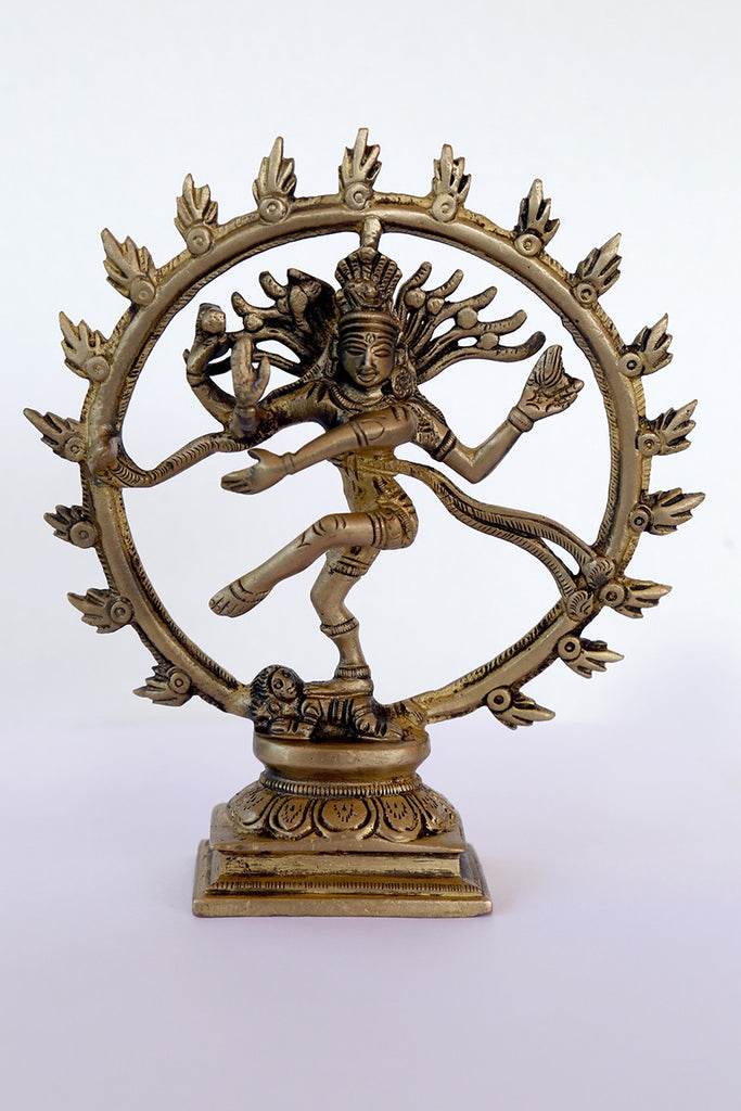 Nataraj in Brass with Square stand