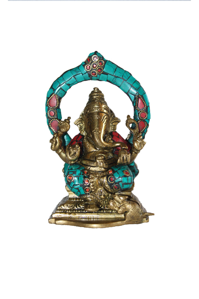 Ganesh Sitting With Ring